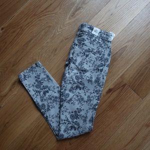 Adorable Floral Print Skinny Jean!👖